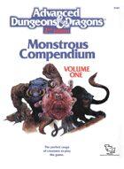 MC1 Monstrous Compendium Volume One (2e)