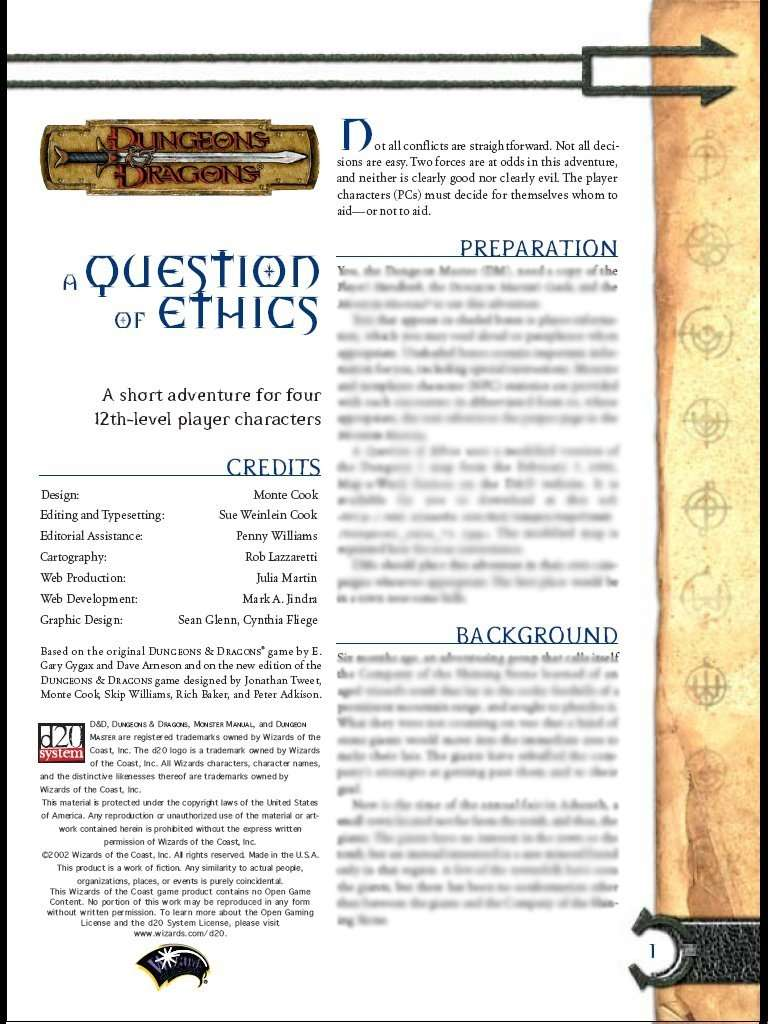 Cover of a Question of Ethics