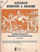 G1 Steading of the Hill Giant Chief (1e)