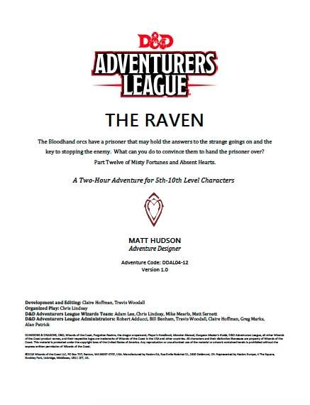 Cover of DDAL04-12 The Raven
