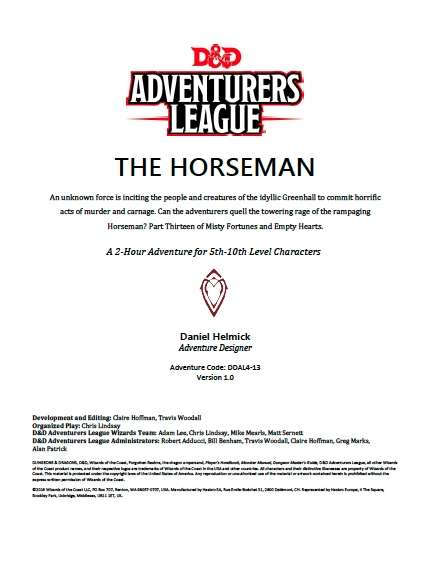DDAL04-13 The Horseman (5e)