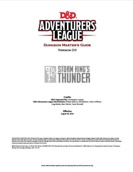 Storm King S Thunder Adventurer S League Dungeon Master S