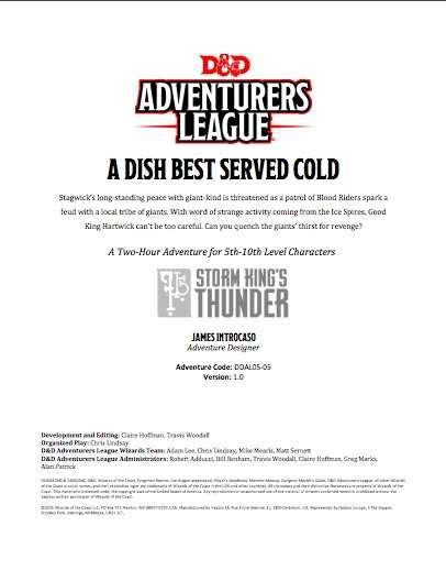 DDAL05-05 A Dish Best Served Cold (5e)