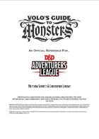 Volo's Guide to Monsters: A D&D Adventurers League Reference (5e)