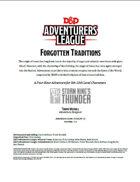 DDAL05-11 Forgotten Traditions (5e)