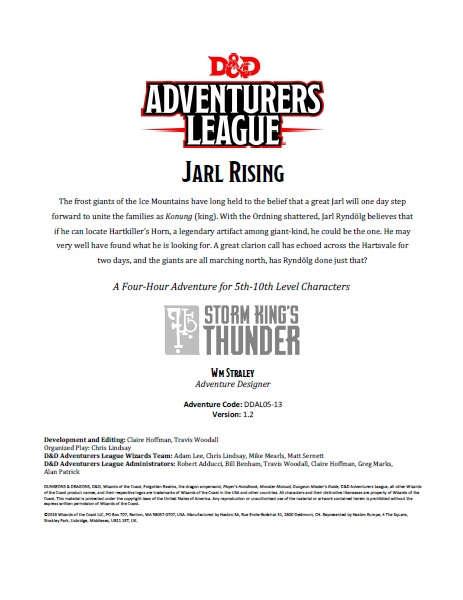 Cover of DDAL05-13 Jarl Rising