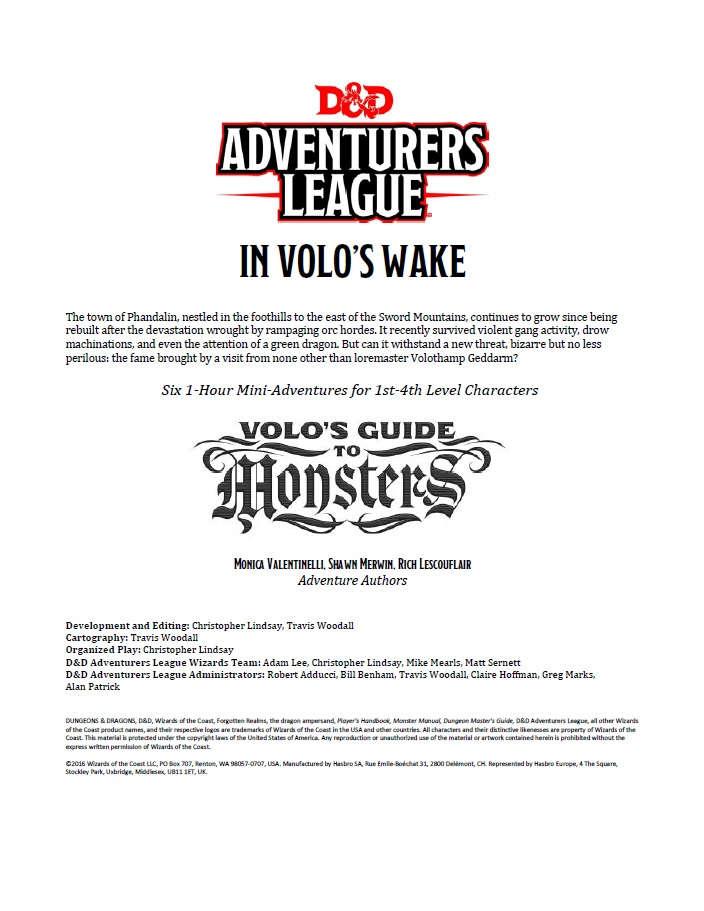 In Volo S Wake 5e Wizards Of The Coast D Amp D 5th