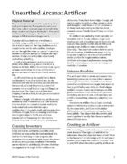 Unearthed Arcana: The Artificer Class (5e)