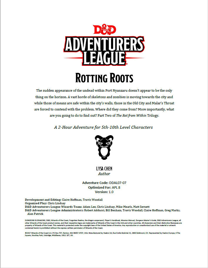 Cover of DDAL07-07 Rotting Roots