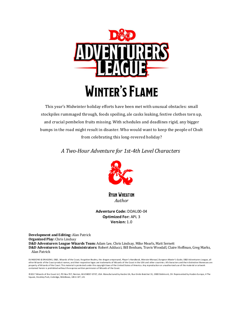 DDAL00-04 Winter's Flame (5e)