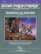 Star Frontiers: (SF3) Sundown on Starmist