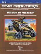 Star Frontiers: (SF4) Mission to Alcazzar