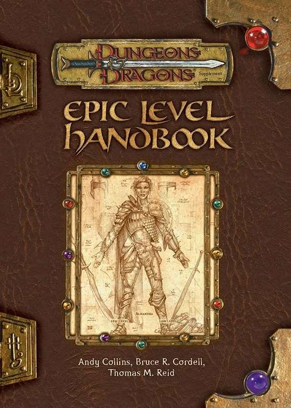 epic level handbook 3e wizards of the coast dungeons dragons 3 x dungeons dragons 3. Black Bedroom Furniture Sets. Home Design Ideas