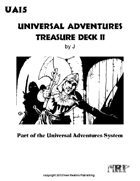 Universal Adventures Treasure Deck II