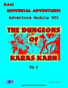 Universal Adventures Adventure Module DD1 The Dungeons of Karas Karn