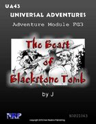 Universal Adventures Adventure Module FG3 The Beast of Blackstone Tomb