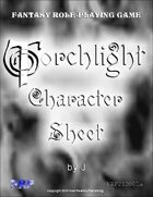 Torchlight Character Sheet