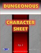Dungeonous Character Sheet