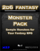 2d6 Fantasy: Monster Pack