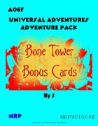 Universal Adventures AO6F Bone Tower Bonus Cards