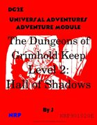 DG2E The Dungeons of Grimhold Keep, Level 2: Hall of Shadows