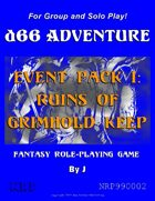 d66 Adventure Event Pack I: Ruins of Grimhold Keep