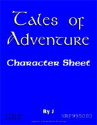 Tales of Adventure Character Sheet