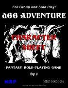 d66 Adventure Character Sheet