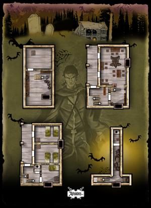 Vtt Maps Haunted House Aaw Games Drivethrurpg Com