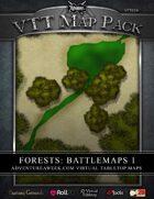 VTT MAP PACK: Forests Battlemaps 1