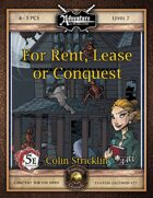 (5E) B20: For Rent, Lease, or Conquest (Fantasy Grounds)