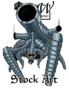 Stock Art: Cannon Golem