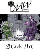 Stock Art: Druid & Wizard