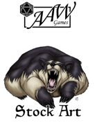 Stock Art: Dire Badger
