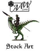 Stock Art: Drow & Dinosaur