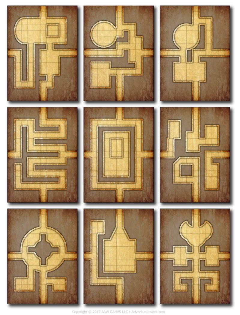 Dungeon Builder's Deck - AAW Games | Supplements