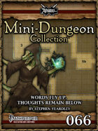 Mini-Dungeon #066: Words Fly Up, Thoughts Remain Below
