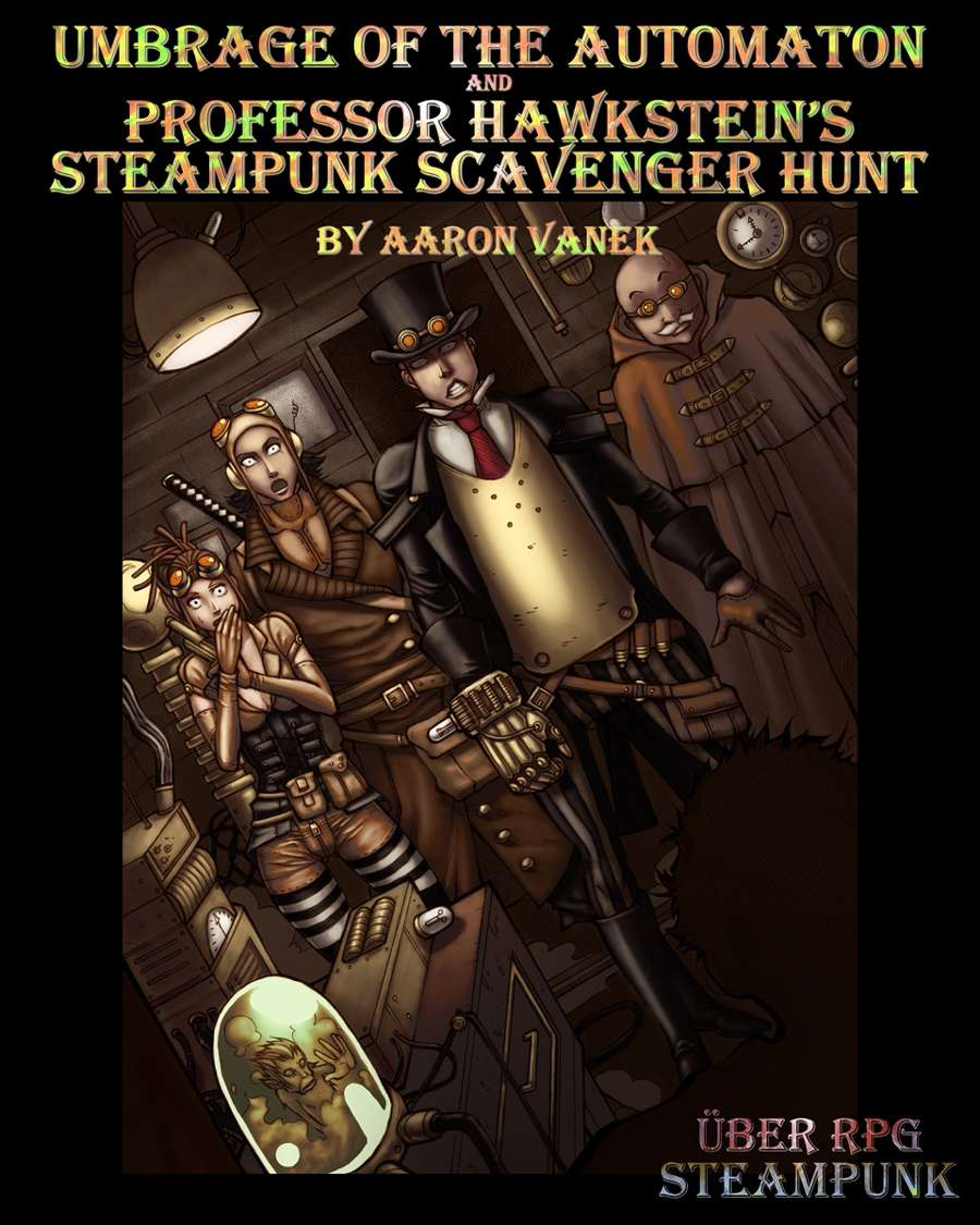 Steampunk Coloring Book By Uber Goober Games : ?ber rpg steampunk scenario uber goober games rpgnow