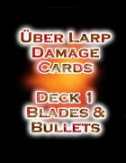 LARP Damage Cards Blades and Bullets