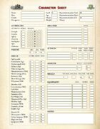 QuestCore Interactive character sheet