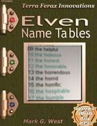Elven Name Tables