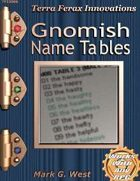 Gnomish Name Tables