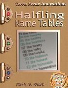 Halfling Name Tables