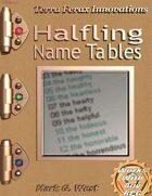 Halfling Name Tables