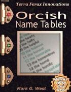 Orcish Name Tables