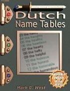 Dutch Name Tables