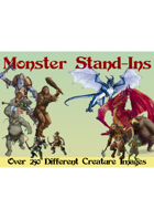 Monster Stand-Ins (Paper Minis)