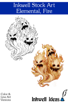 Inkwell Stock Art: Elemental, Fire