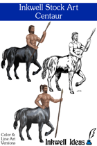 Inkwell Stock Art: Centaur (2)