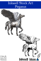 Inkwell Stock Art: Pegasus